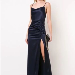 Sapphire blue gown from Alice + Olivia